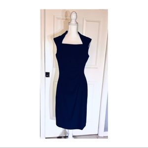 Tahari Arthur S Levine Navy Blue Dress Size 8